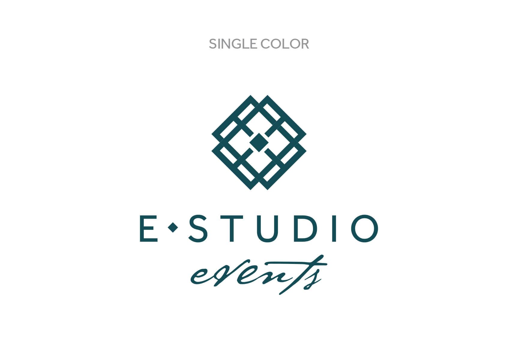 E Studio Events Single Color Logo