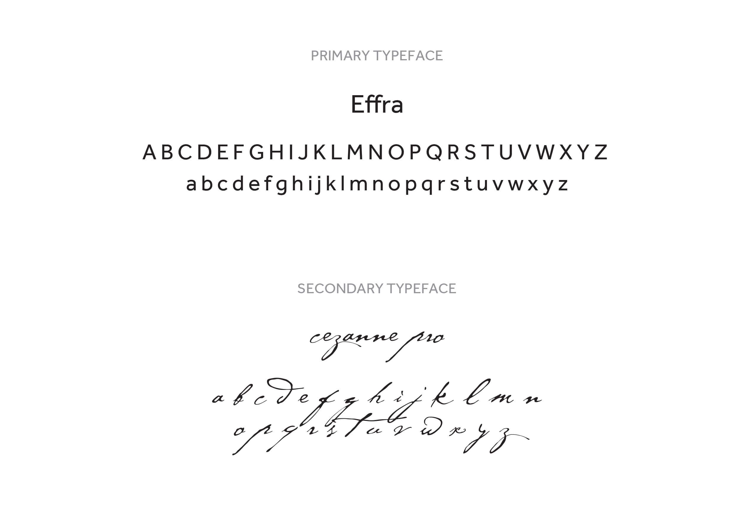 E Studio Events typography