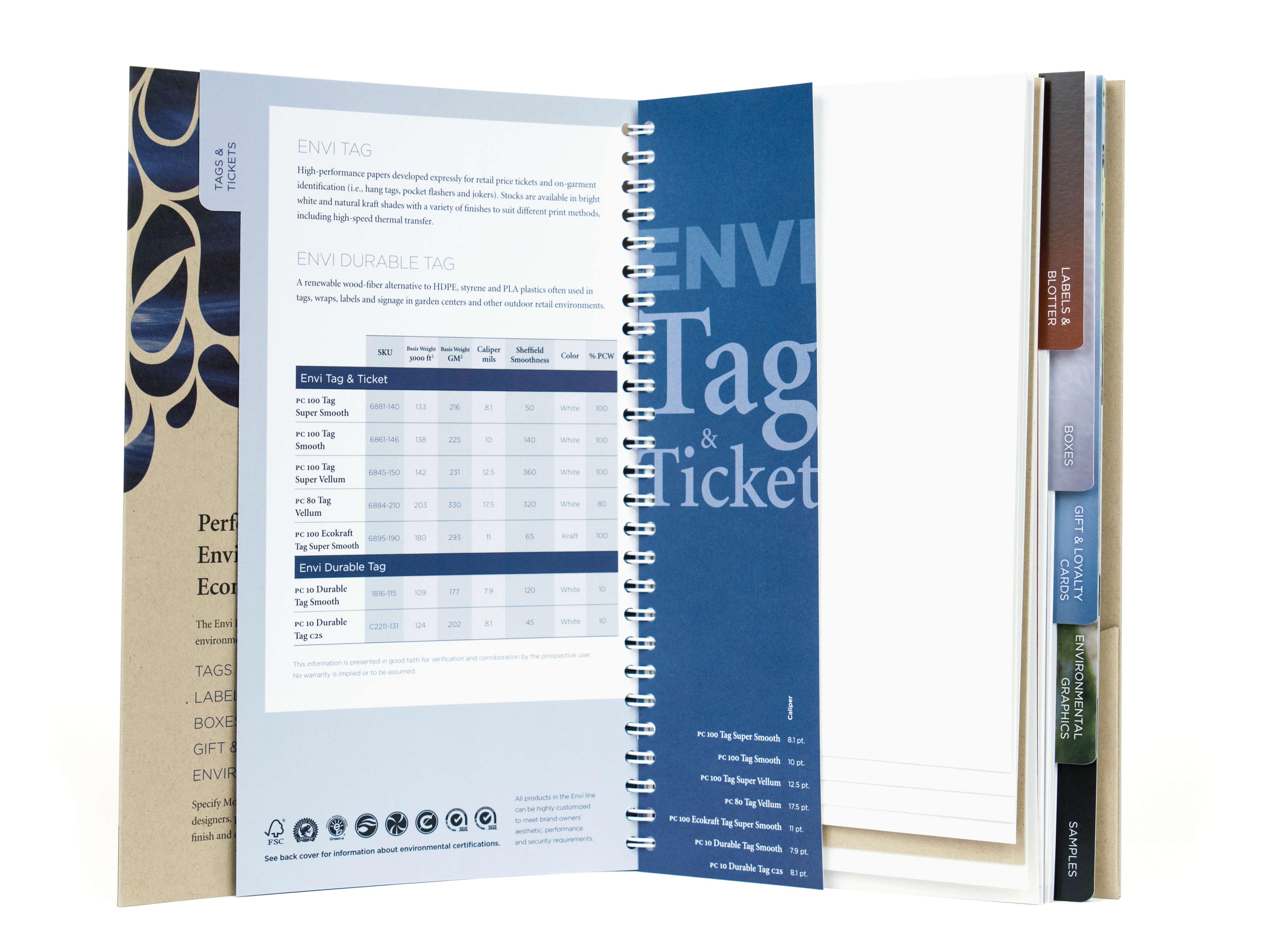 Monadnock Envi Portfolio Swatchbook
